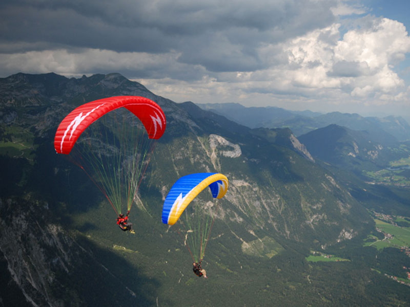 Paragliders in ALMATY